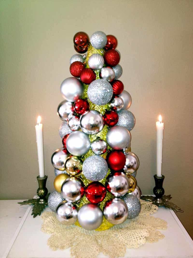 Bauble Styrofoam Xmas Tree
