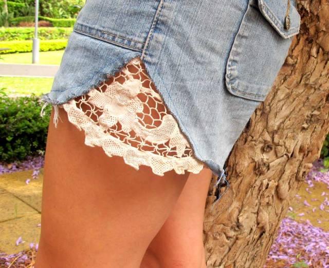 Doily shorts
